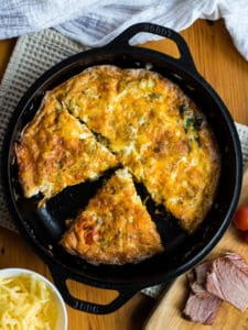 ham and cheese frittata web stories poster
