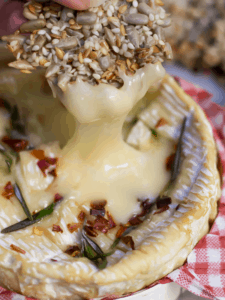Baked Camembert with Honey rosemary chili google stories poster copy