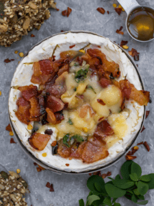 Baked Camembert with honey bacon google stories poster copy